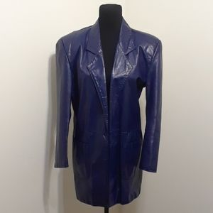 BLUE-TI-FUL Women's VINTAGE Leather Blazer 💙💙💙